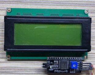 LCD کاراکتری 4×20 بک لایت سبز به همراه درایور I2C